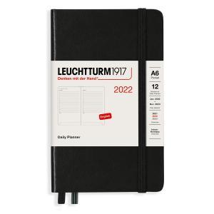 Kalender Leuchtturm1917 A6 Daily Planner Black 2022