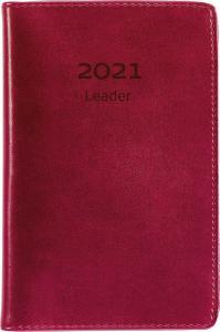 Leader rött konstläder 2021 inbunden