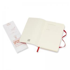 Moleskine Moleskine Notebook Pocket Soft Cover - Röd - Olinjerad - Kalenderkungen.se