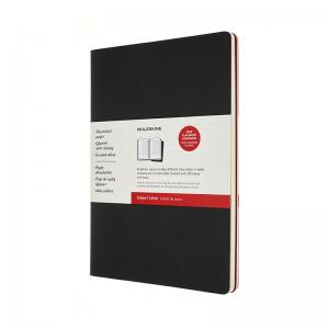 Moleskine Moleskine Cahier Journal A4 Black/Red - Kalenderkungen.se