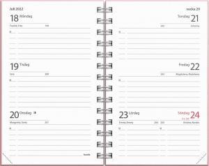 Kalender Compact Ottawa Rosa 2021-2022