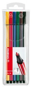 Fiberpenna Stabilo 68 6-pack