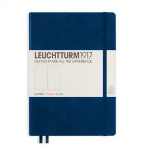 Leuchtturm1917 Leuchtturm Notebook A5 hard 249s Navy olinjerad - Kalenderkungen.se