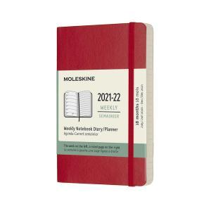 Moleskine Veckokalender Pocket soft 21/22 Röd
