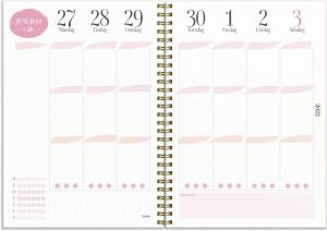 Life planner A5 rosa 2022