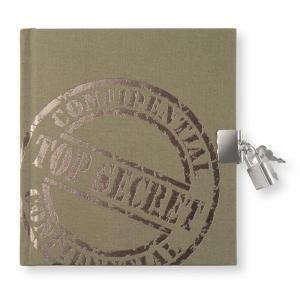 Dagbok med lås Top Secret Khaki Green