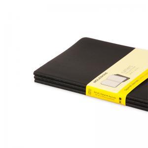 Moleskine Cahier Journal Large Squared - Svart