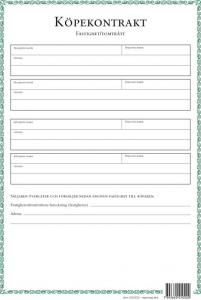 Köpekontrakt Fastighet/Tomträtt