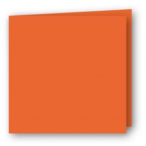 Kvadratiska Kort dubbla 5-pack 220g Orange