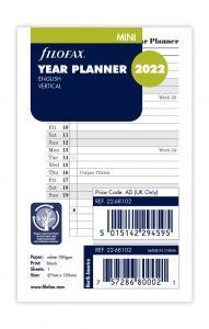 Filofax årsplan mini 2022
