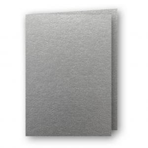 A6 Kort dubbla stående 5-pack 220g Silver