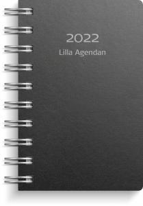 Lilla Agendan svart miljökartong 2022