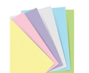 Extrablad dotted pastell till Filofax Notebook Pocket