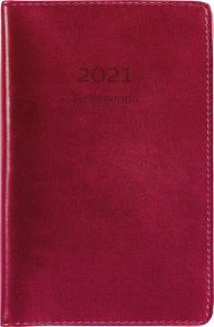 Fickagenda rött konstläder 2021