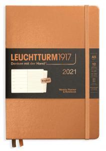 Kalender 2021 Leuchtturm1917 A5 vecka/notesuppslag Copper