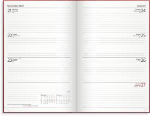 Dagbokskalender inbunden 2022