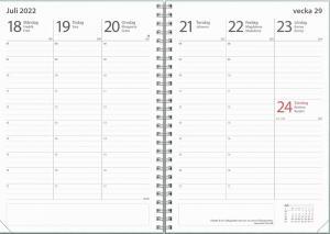 Kalender Study A5 Ottawa Grön 2021-2022