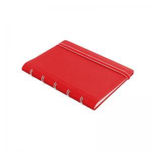 Filofax Notebook röd linjerad pocket