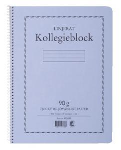 Emo Kollegieblock 90g linjerat - Kalenderkungen.se