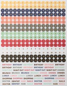 Calender Stickers Pastel 2