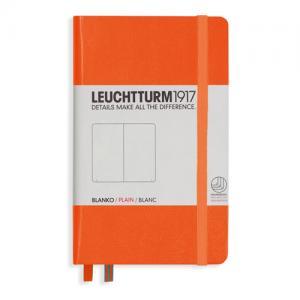 Leuchtturm1917 Leuchtturm A6 hard 185s orange olinjerad - Kalenderkungen.se