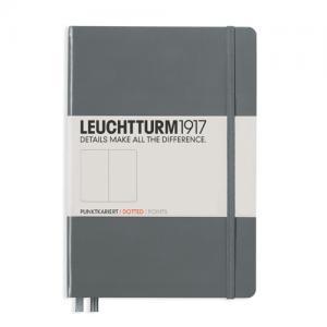Leuchtturm1917 Leuchtturm Notebook A5 hard 249s Anthracite dotted - Kalenderkungen.se