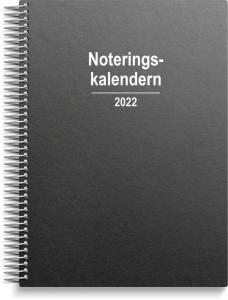 Noteringskalender refill svart kartong 2022