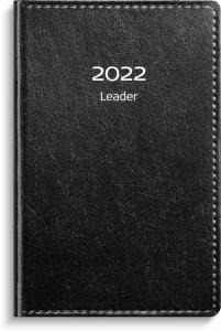Leader svart konstläder 2022 inbunden