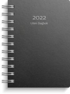 Liten Dagbok svart miljökartong 2022