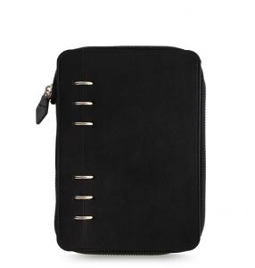 Clipbook Classic Mono Personal Zip Notebook Black
