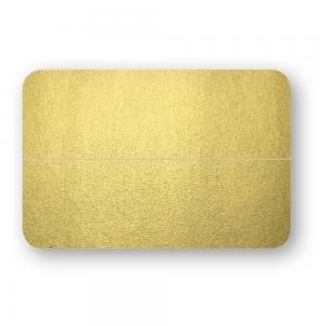 Placeringskort Dubbla 10-pack 220g Guld
