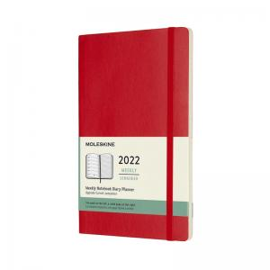 Moleskine Weekly notebook Large Red Soft 2022