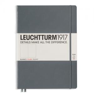 Leuchtturm1917 Leuchtturm Notebook A4 Slim Hard 121s Anthracite olinjerat - Kalenderkungen.se