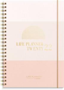 Life Planner Pink, horisontell 2022