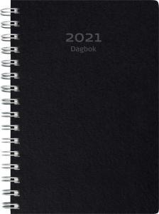 Dagbok svart miljökartong 2021