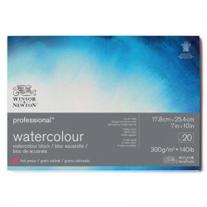 Akvarellblock Winsor & Newton Premium Hot Press 300g
