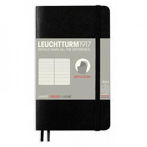 Anteckningsbok Leuchtturm1917 Soft A6 svart linjerad