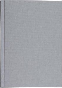 Burde Förlag Anteckningsbok A4 linnetextil grå linj - Kalenderkungen.se