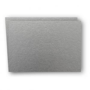 A6 Kort dubbla liggande 5-pack 220g Silver