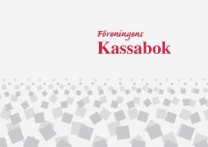 Burde Förlag Föreningens Kassabok - A4 - 297x210mm - Kalenderkungen.se