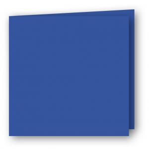 Kvadratiska Kort dubbla 5-pack 220g Klarblå