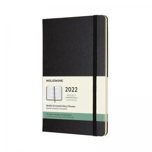 Moleskine Horizontal Weekly Black hard Large 2022