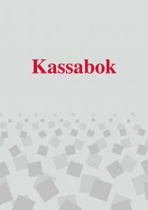 Burde Förlag Kassabok - A5 148x210mm - Kalenderkungen.se