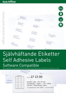 B.N.T Kop/Laseretiketter 70x36 - Kalenderkungen.se