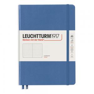 Leuchtturm1917 Leuchtturm Notebook A5 hard 249s Denim dotted - Kalenderkungen.se