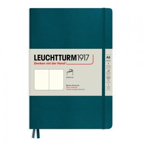 Leuchtturm1917 Leuchtturm Notebook A5 soft 249s Pacific Green olinjerad - Kalenderkungen.se
