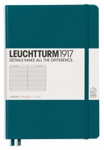 Leuchtturm1917 Leuchtturm Notebook A5 hard 249s Pacific Green linjerad - Kalenderkungen.se