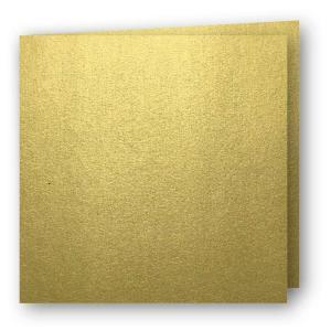Papperix Kvadratiska Kort dubbla 5-pack 220g Guld - Kalenderkungen.se