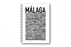 Gullers Anteckningsbok Malaga - Kalenderkungen.se