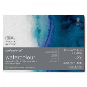 Akvarellblock 17,8x25,4cm Winsor & Newton Premium Rough 300g